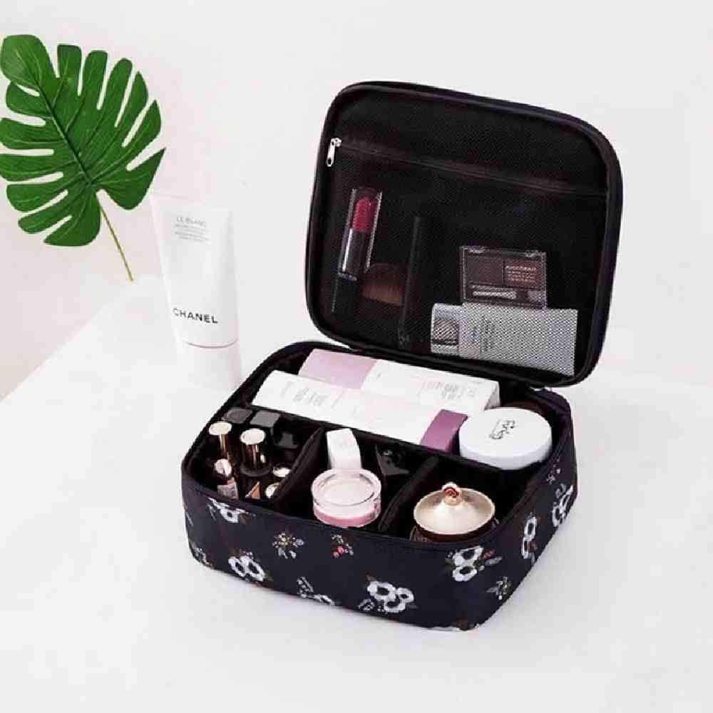 OYHBGK Bolso cosmético Flamingo de dibujos animados para mujer Función Bolsa de maquillaje Maleta de viaje Cremallera de maquillaje Organizador Bolsa de almacenamiento Kit de artículos de aseo Caja: Amazon.es: Belleza