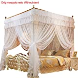 4 Corner Post Bed Canopy Princess Queen Mosquito Net, 78.74x59.05x78.74 inches Full Queen Size Bed Canopy (White)