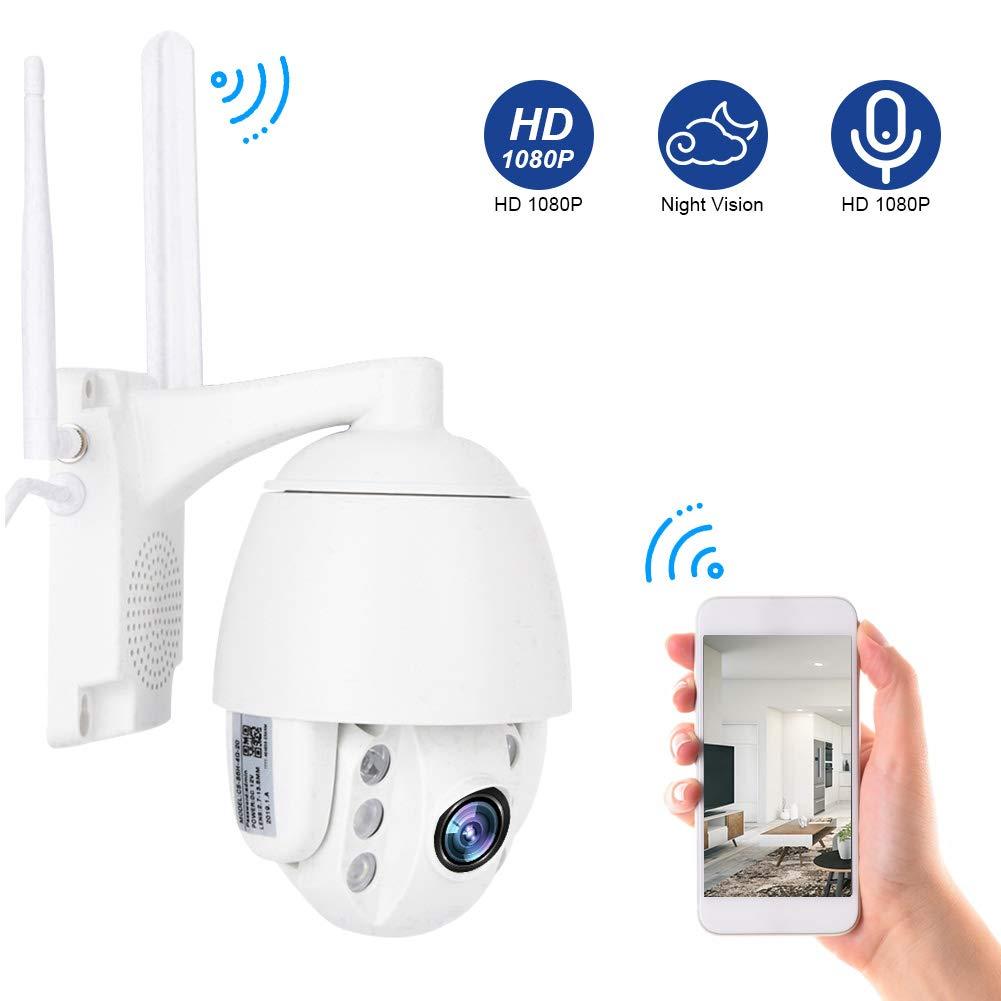 Audio Bidireccional 3G // 4G 1080P C/ámara de Vigilancia de Seguridad C/ámara de Seguridad para Exteriores Visi/óN Nocturna Sistema de C/ámara Domo IP CCTV Enfoque Autom/áTico EU