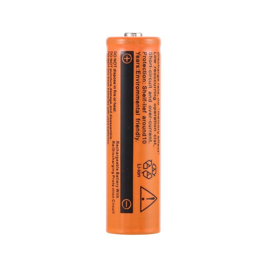 1pcs 18650 Bater/ías Recargables de Litio Bater/ía Inteligente Bater/ías /útiles de precarga 9900mAh 3.7V 1 Piezas Naranja Togames