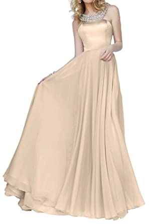 La Mariee Shinning Crystal Neckline Ball-Gown Prom Dresses A-Line Satin Long New