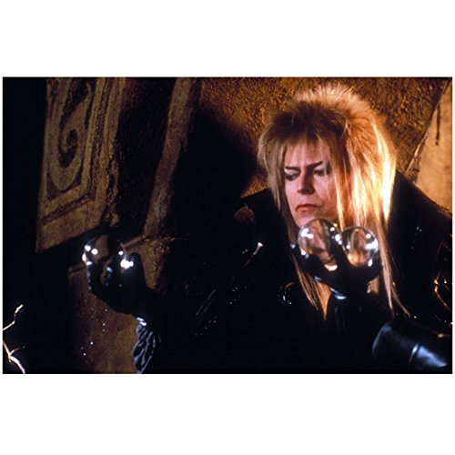 Labyrinth 8x10 Photo David Bowie Black outfit with