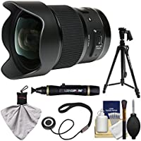 Sigma 20mm f/1.4 Art DG HSM Lens for Canon EOS Digital SLR Cameras with 61 Pistol Grip Tripod + Kit