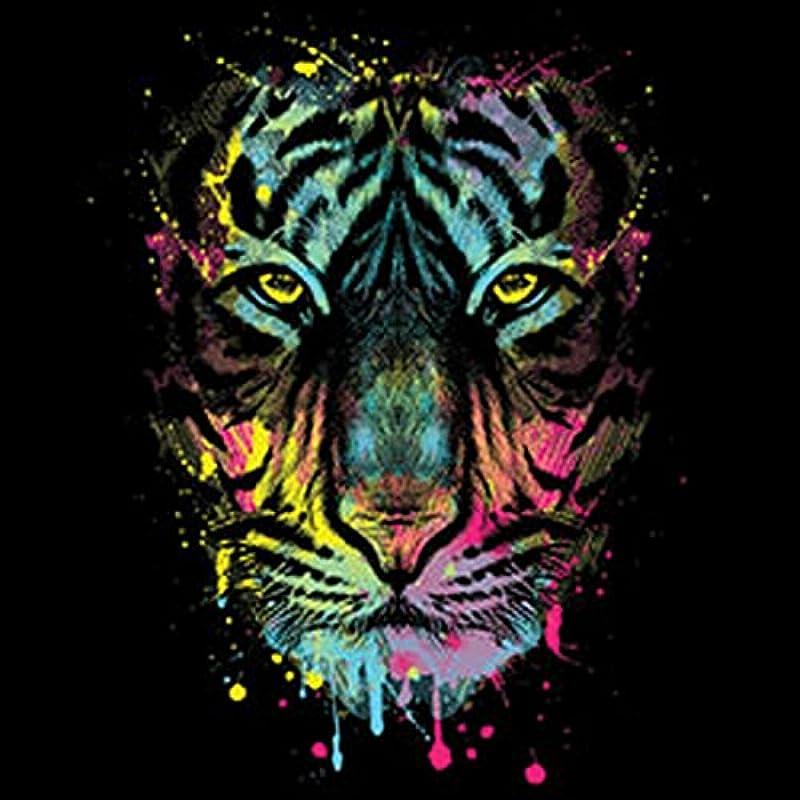 Sweter męski sweter z motywem: dripping Tiger – motywem kota – prezent – swetry, – Kolor: czarny: Odzież
