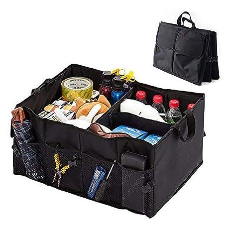 Large Car Boot Organiser Shopping Tidy 56L Foldable Storage Heavy Bag Travel Box