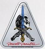 Powell Peralta Skateboard Sticker - Skull & Sword - Official Reissue Old School