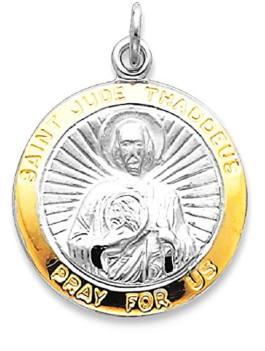 Ice Carats 925 Sterling Silver Saint Jude Thaddeus Medal Pendant Charm Necklace Religious Patron St Fine Jewelry Gift Set For Women Heart