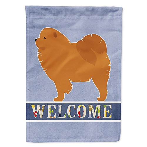 Caroline's Treasures BB5555GF Chow Chow Garden Size Welcome Flag, Small, Multicolor ()