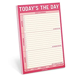 Knock Knock Today's The Day Pad, To Do List Note Pad, 6 x 9-inches