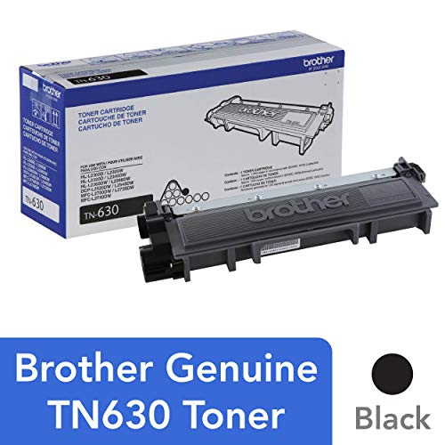 Brother Printer Refill Ink - Brother Genuine Standard Yield Toner Cartridge, TN630, Replacement Black Toner, Page Yield Up To 1,200 Pages, Amazon Dash Replenishment Cartridge