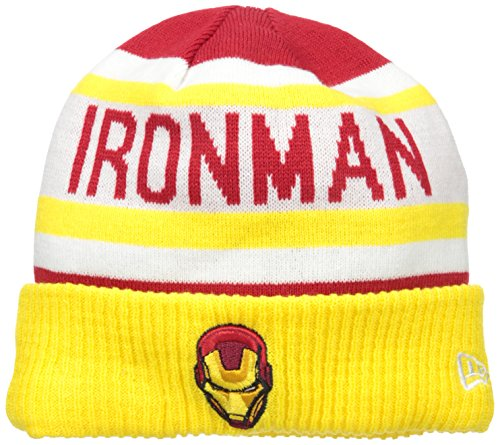 New Era Cap Men's Biggest Fan 2.0 Ironman Knit Beanie, Gold, One Size (Iron Man Hat compare prices)