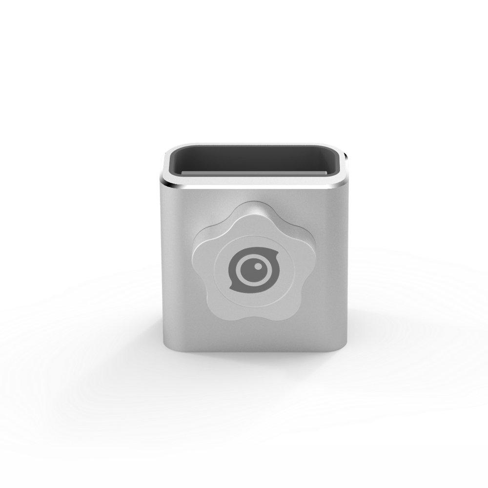 "Insta360 Base Hold Aluminum Alloy Panoramic Camera Mount Base Holder Bracket with 1/4"" Tripod Socket, Pearl White"