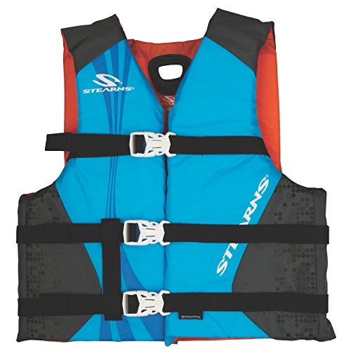 Stearns Antimicrobial Nylon Youth Vest, Blue (Renewed) ()