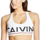 Calvin Klein Women's Modern Cotton Bralette Bra Exposed Logo (X-Large)