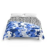 Society6 Monroe - India Ink, Indigo, Dots, Spots, Print Pattern, Surface Design Comforters Full: 79'' x 79''