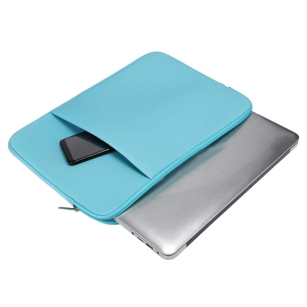 Azul Claro Kafuty Estuche port/átil de 14 Pulgadas para port/átil Delgado y port/átil Funda de sobre Suave y Duradera Funda Protectora con Bolsillo para Macbook