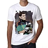 Iker Casillas Men's T-shirt Celebrity Star ONE IN THE CITY - White, XL