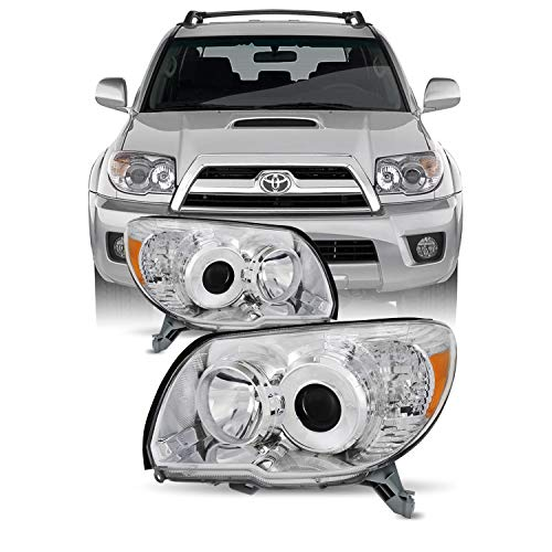 For Toyota 4Runner Chrome OE Replacement Headlights Driver/Passenger Amber Head Lamps -