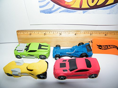 Hot Wheels Race Car, Sports Car, High Tech Car Toy Figure Birthday Cake Toppers / Cupcake Party Favor Decorations Set of 9
