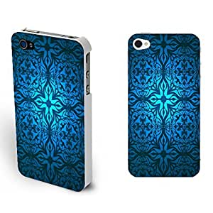 Retro Glowing Damask Pattern Hard Plastic Back Case Cover for for Iphone 4/4s