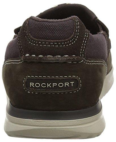 Rockport Langdon Slip On, Mocasines Hombre Marrón (Dark Brown Nubuck)