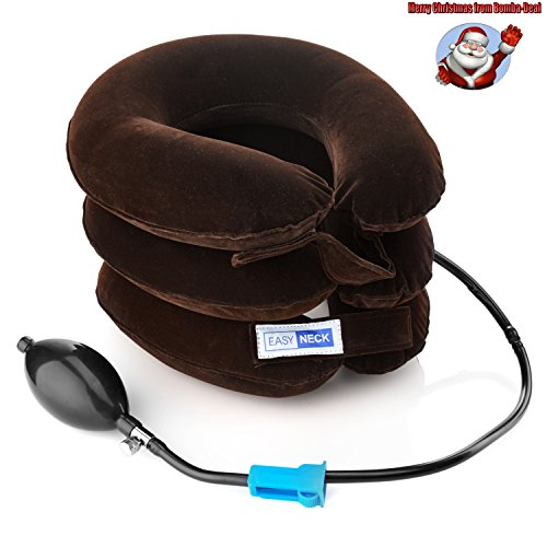 Cervical-Neck-Traction-Device-for-Neck-Back-Head-Shoulders-Pain-Inflatable-Neck-Pillow-Cervical-Traction-Pillow-Adjustable-Size-Collar-Bigger-Pump-Improved-Model-by-EasyNeck
