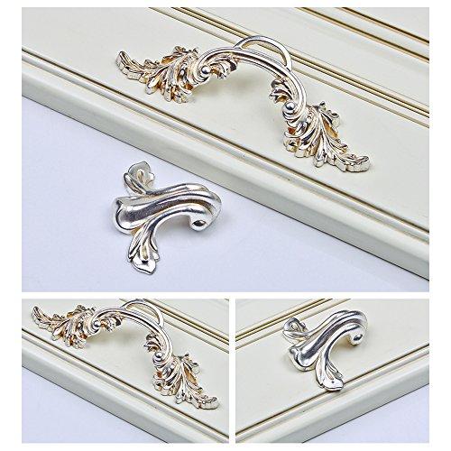 Zhi Jin 4Pcs Luxury Cabinet Handles Elegant Cupboard Book Drawer Handle Room Decoration 128mm by Zhi Jin (Image #4)
