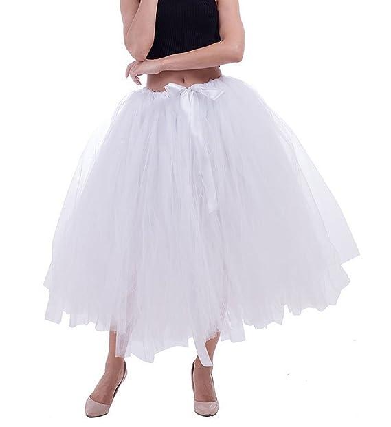 Mujer Elástica Falda Cintura Lazo Comall Para Corta Tul Con pw1xRqR e5cc8fb11e5