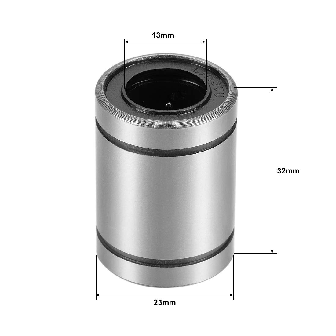 6mm Bore Dia 19mm Length 12mm OD Pack of 2 uxcell/® LM6UU Linear Ball Bearings
