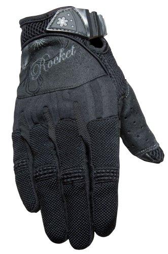 Joe Glove Black Mesh Rocket (Joe Rocket Women's Heartbreaker Glove (Black, Medium))