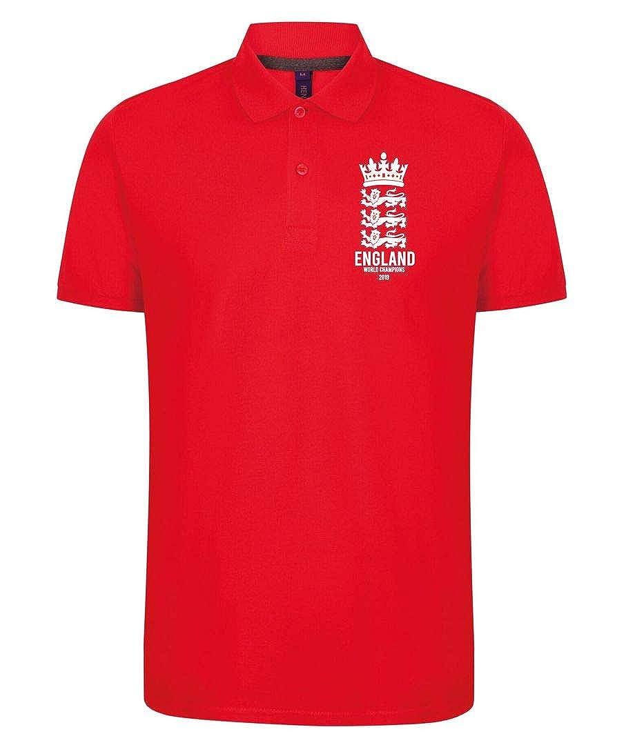 Novelty Hoods England Cricket World Cup Winners 2019 Logo Design Polo Kids Red