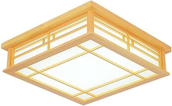 Nilinlei Ceiling Lights Lamp Japanese Ceiling Light Led Solid Wood Lamps Light Japanese Tatami Ceiling Light Wooden Light Wood Lamps Korean Tri Color For Study Room Bedroom Living Room 350mm Amazon Com