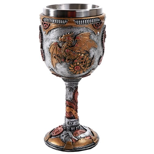 Pacific Giftware Steampunk Mechanical Gearwork Dragon Wine Goblet Decor Gift ()