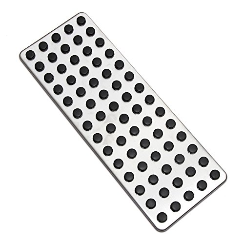 AndyGo Car Styling Non Slip Foot Rest Plate No Drill Footrest Pedal Cover Fit for Mercedes Benz B C E S CLS SLK Cla Gla Glk Ml G Gl Series