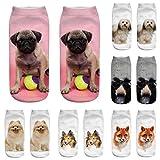 #9: Cute Socks Women Men,BCDshop 3D Dog Print Medium Socks Novelty Fashion Socks Casual Cotton Socks