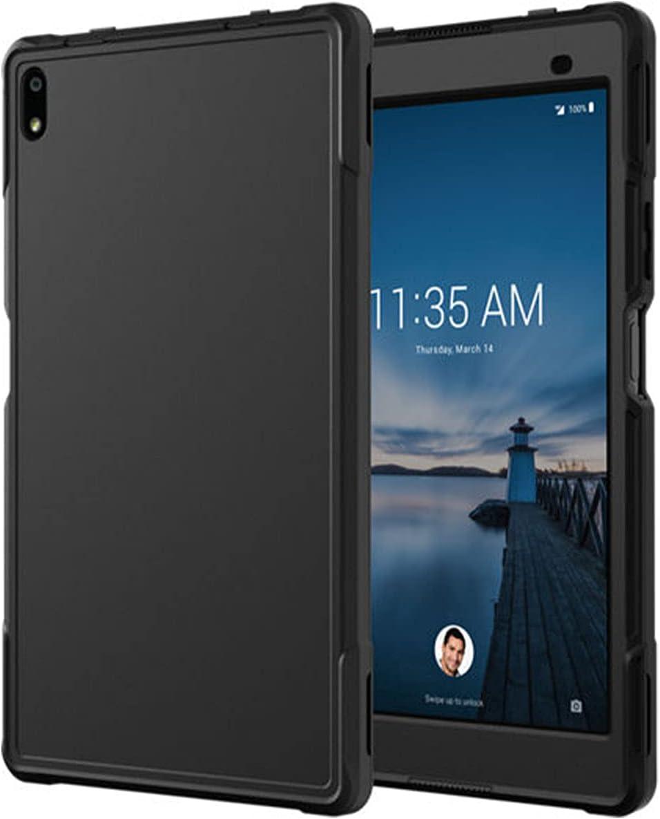 Rome Tech Rugged Case for Lenovo Tab 4 8 Plus ZA2B0009US - TB-8704X TB-8704N TB-8704V TB-8704F - Heavy Duty Shockproof Protective Cover for Tab 4 8 Plus - Black