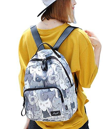 Zaino Scuola Casual Zainetto Ragazza/Donna Stampa Zaini Viaggio Borsa Backpack Grande