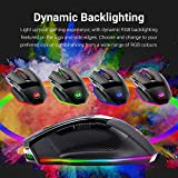 Redragon M801 PC Gaming Mouse LED RGB Backlit MMO 9 Programmable Buttons Mouse with Macro Recording Side Buttons Rapid Fire Button for Windows Computer Gamer