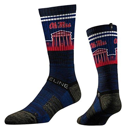 Strideline NCAA Mississippi Ole Miss Rebels Premium Athletic Crew Socks, Navy Lyceum, One Size