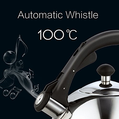 Homeinart Whistling Tea Kettle Stainless Tea Kettles Stovetop 2.6 QT by Homeinart (Image #4)