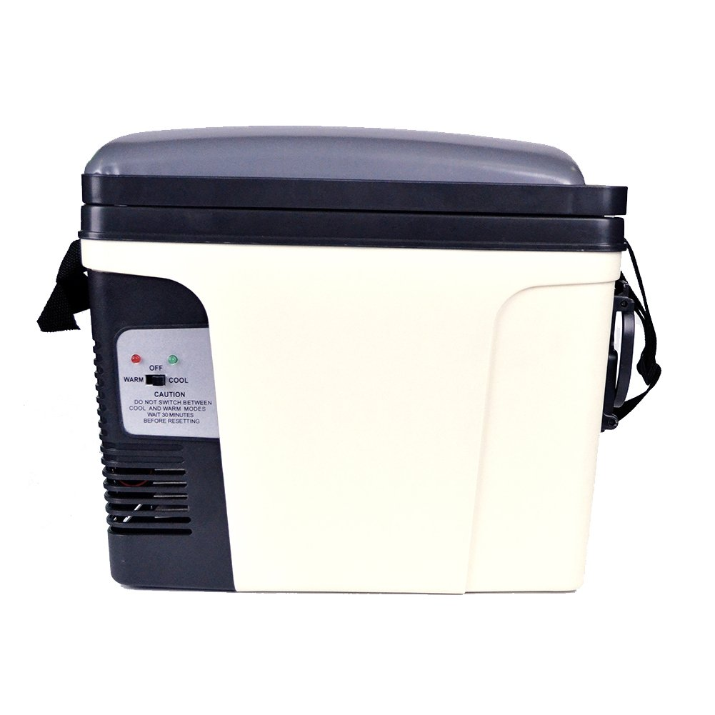 SMAD 11 Can Beverage Warmer Cooler DC AC Mini Fridge,for Home, Office, Car, RV & Boat ,5.5 Qt