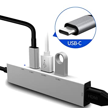 Lukame Cargador Pd Adaptador USB 3.0 USB a Hub Multi-USB de Tipo C ...