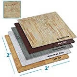 """tile kitchen floor  100 Sq. Ft (10' x 10') EVA Interlocking Foam Mats Flooring, Granite Stone Print Style - (24"""" x 24"""", 25 pcs) 