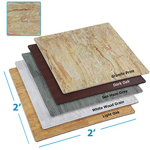 """100 Sq. Ft (10' x 10') EVA Interlocking Foam Mats Flooring, Granite Stone Print Style - (24"""" x 24"""", 25 pcs) 