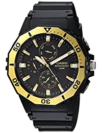 Casio MRW400H-9AV Men's Black Resin Band Multifunction Analog 100M Sports Watch