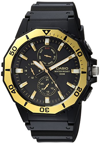Casio Men's 'Sports' Quartz Resin Casual Watch, Color:Black (Model: ()
