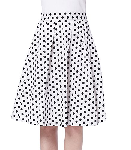 Polka Dot Pleated Skirt - 8