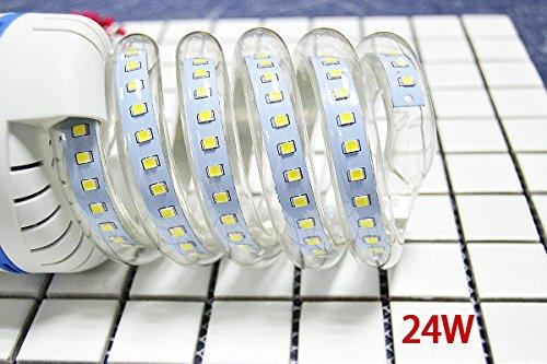 E27 2835SMD Spiral LED Energy saving lamp Bulb Light Cool White AC 86-265V 5-30W,24W - 24w Spiral