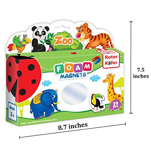 Refrigerator magnets for kids ZOO ANIMALS - 29 Foam