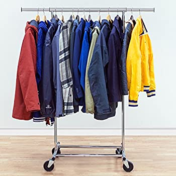 Amazon.com: Tatkraft Drogo Heavy Duty Clothes Rack on Wheels ...